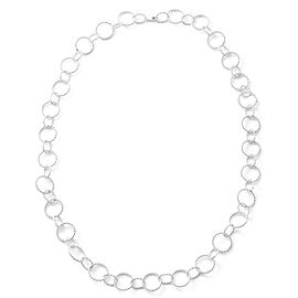 Designer Inspired - High Polished Sterling Silver Oval Link Necklace (Size 30), Silver wt 38.00 Gms.
