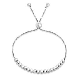 JCK Vegas Collection - Close Out Deal - Sterling Silver Bolo Bead Bracelet (Size 6.5 - 9 inches)