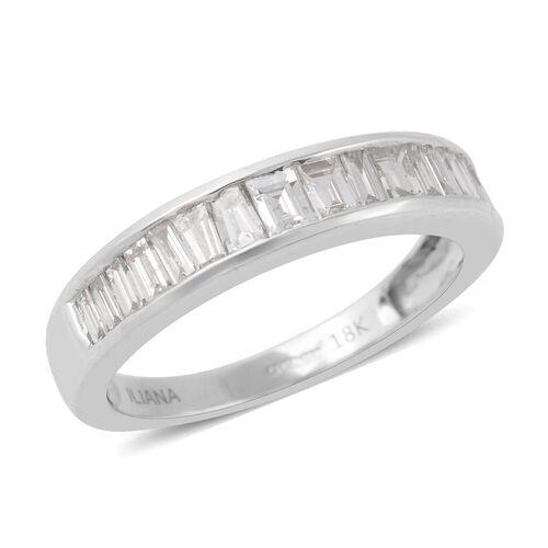 Iliana 1 Carat Diamond Eternity Band Ring in 18K White Gold 3.05 Grams