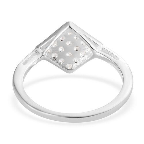 J Francis - Sterling Silver (Rnd) Ring Made with SWAROVSKI ZIRCONIA.