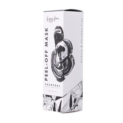 Fizzy Fern: Charcoal Peel-Off Mask Sulphate & Paraben Free with Turmeric