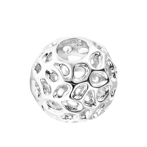RACHEL GALLEY Globe Charm or Pendant in Rhodium Plated Sterling Silver
