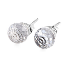 J Francis - Crystal from Swarovski White Colour Crystal Stud Earrings (with Push Back) in Sterling S