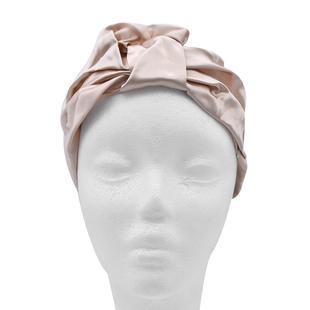 100% Mulberry Silk Turban / Bonnet in Champagne (Size 18x24cm)