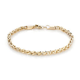 Spiga Chain Bracelet in 9K Yellow Gold 4.50 Grams 7.5 Inch