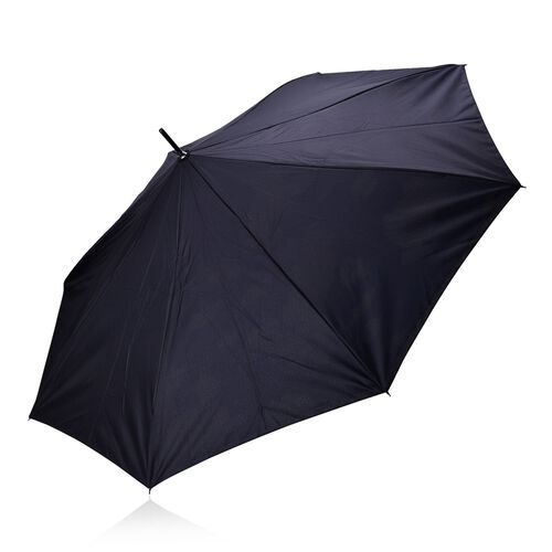 Reverse Folding Double Layer C-Handle Umbrella with Cloud Pattern - White and Blue (Size-88 Cm)