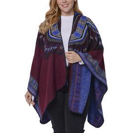 Designer Inspired Red Colour Santa Fe Pattern Kimono Size 150x130 Cm