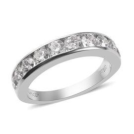 RHAPSODY 950 Platinum Diamond Half Eternity Band Ring 1.50 Ct.