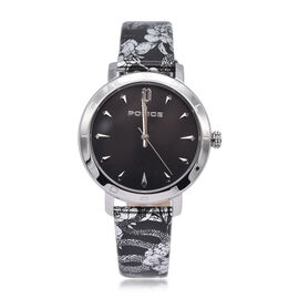 Police PONTA Watch with Black Patterened Strap