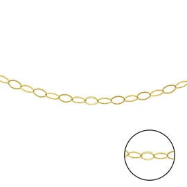 Italian Made Close Out Deal - 9K Yellow Gold Adjustable Belcher Necklace (Size 18)