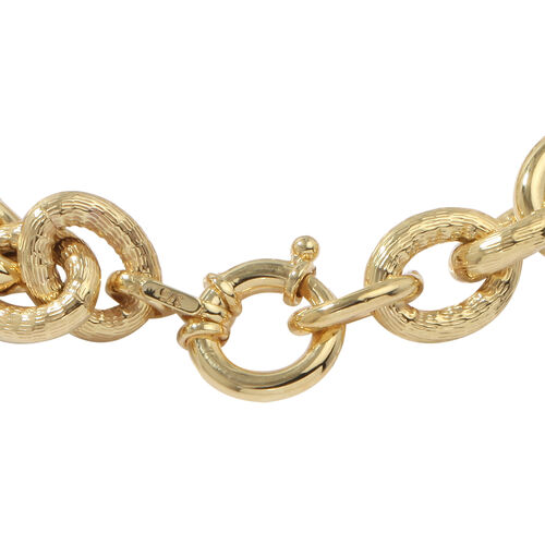 Vicenza Collection- 9K Yellow Gold Fancy Belcher Bracelet (Size 7.5), Gold wt 13.61 Gms