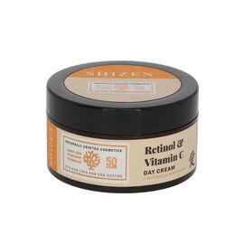 SHIZEN: Retinol & Vitamin C Day Cream - Brightening Face Cream/ No Parabens 100% Organic - 50 Gms.