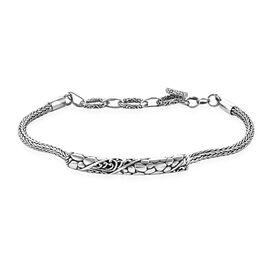Royal Bali Collection Sterling Silver Tulang Naga Bracelet (Size 6.75-7.75), Silver wt 10.90 Gms