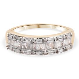 9K Yellow Gold   White Diamond  Fancy Ring 0.51 ct,  Gold Wt. 2.6 Gms  0.510  Ct.