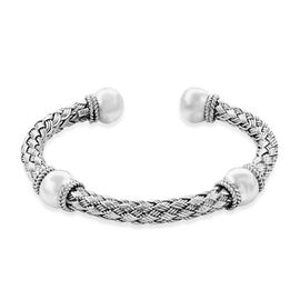 Royal Bali Collection Woven Cuff Bangle in Sterling Silver 35 Grams 7.5 Inch