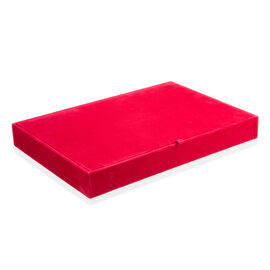 Red Colour 100 Pcs Velvet Ring Tray with Removable Cover (Size 35x24x4.20 Cm)