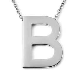 Initial B Necklace (Size - 20) in Stainless Steel