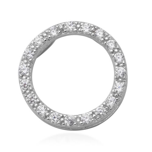 ELANZA Simulated Diamond Pendant in Sterling Silver