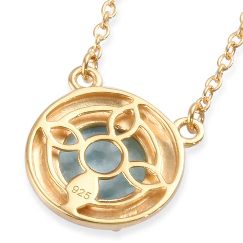 Larimar Necklace (Size 18) in 14K Gold Overlay Sterling Silver 3.00 Ct.