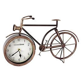 Hometime Metal Mantel Clock - Bicycle