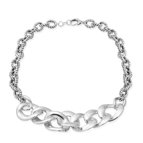 Chain Necklace in Sterling Silver 45 Grams 20 Inch with Extender