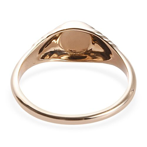 Limited Edition 9K Yellow Gold Round Signet Ring