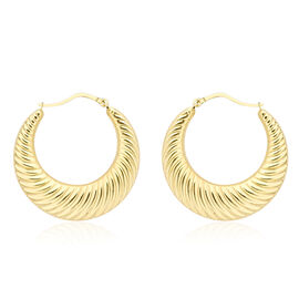 Close Out Deal Creole Hoop Earrings in 9K Yellow Gold