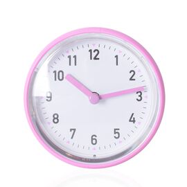 Rain - Shower Proof Clock with Vaccum Suction Mechanism Pink Colour