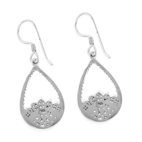 Royal Bali Collection Sterling Silver Drop Hook Earrings