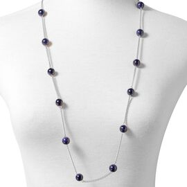 Blue SandStone (Rnd) Long Line Station Necklace (Size 35)