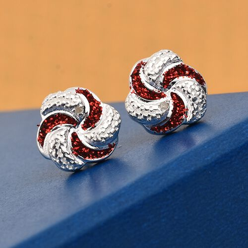 One Time Deal- Deaigner Inspired Diamond Earrings in Sterling Silver