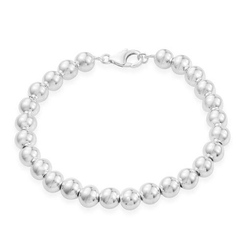 Sterling Silver Ball Bracelet (Size 7.5), Silver wt 9.50 Gms.