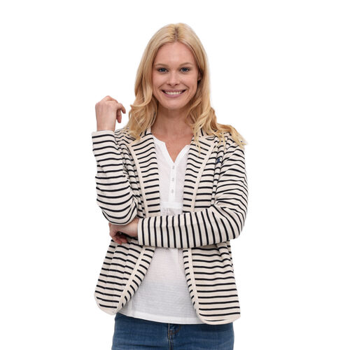 BRAKEBURN 95% Cotton Stripe Blazer (Size-12)