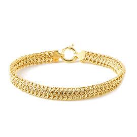 Vicenza Collection 7.5 Inch Byzantine Bracelet in 9K Gold 7.25 Grams