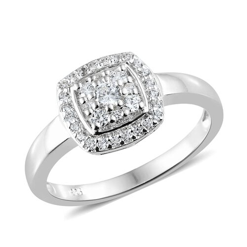 J Francis - Sterling Silver (Rnd) Ring Made with SWAROVSKI ZIRCONIA, Silver wt 3.13 Gms.