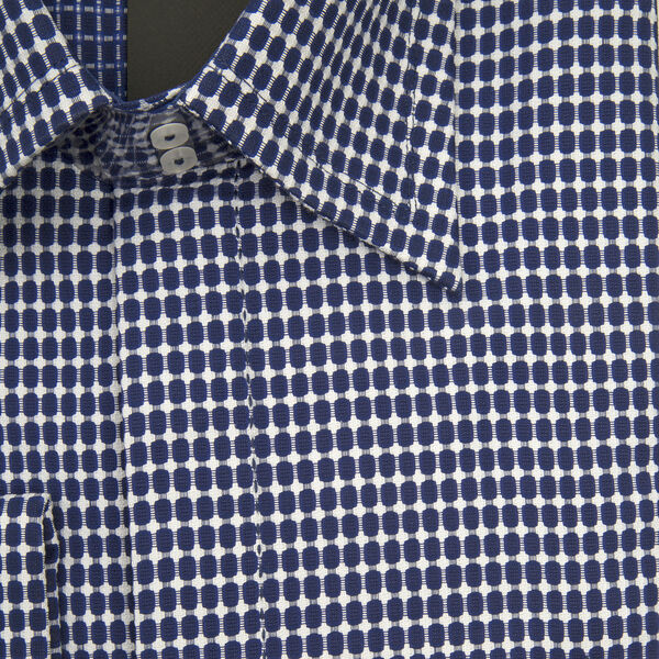 William Hunt Saville Row Forward Point Collar Blue and White  Shirt Size 15.5