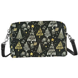 SIGNARE-Tapestry Collection - Xmas Tree Shoulder Hip Bag (20x12x9.5cm)