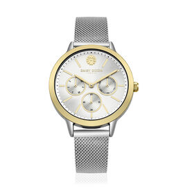 Limited Edition Daisy Dixon Heidi Mesh Strap Bracelet Watch With Gold Tone Bezel And Silver/Gold Ton