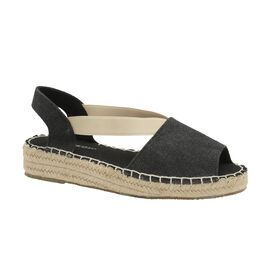 Dunlop Minna Espadrille Sandals in Black Colour