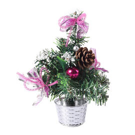 Mini Christmas Tree with Pink Bowknot (Size 23x6cm)