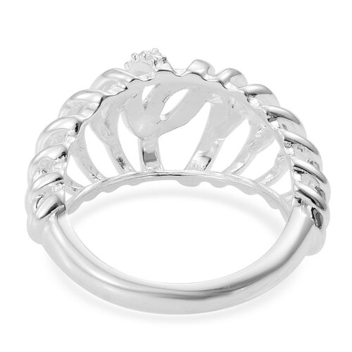 Diamond (Rnd) Ring in Sterling Silver, Silver wt 4.12 Gms.
