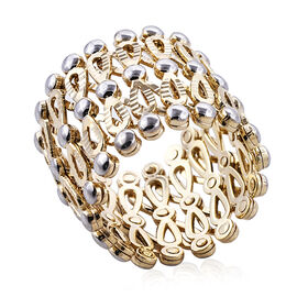Royal Bali Collection 9K Yellow Gold Concertina Ring, Gold wt 7.53 Gms.