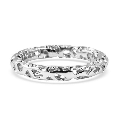 RACHEL GALLEY Allegro Collection - Rhodium Overlay Sterling Silver Band Ring