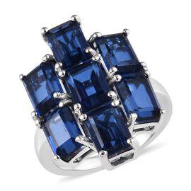 9 Carat Minas Gerais Twilight Quartz Cluster Ring in Platinum Plated Silver