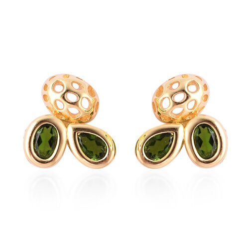 RACHEL GALLEY Misto Collection - AA Russian Diopside Earrings (with Push Back) in Yellow Gold Overla