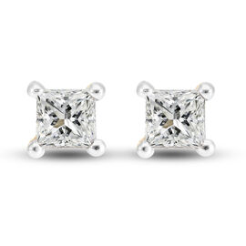 9K Yellow Gold SGL Certified Diamond (I3/G-H) Stud Earrings (With Push Back) 0.25 Ct.