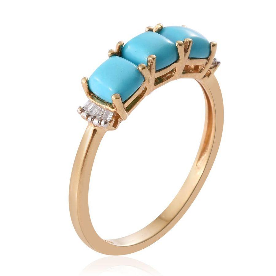 Gold Turquoise Diamond Ring Arizona