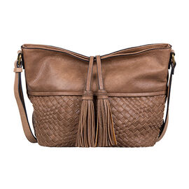 Bulaggi Collection - Hellebore Hobo Shoulder Bag with Adjustable Strap (Size 26x25x13 Cm) - Camel