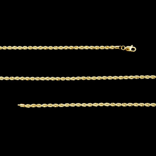 Royal Bali Collection 9K Yellow Gold Rope Necklace (Size 30), Gold wt 5.60 Gms.
