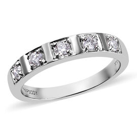 RHAPSODY 950 Platinum Natural IGI Certified Diamond (VS/E-F) Band Ring 0.33 Ct, Platinum wt. 6.21 Gm